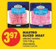 Mastro Sliced Meat - 125/150 g