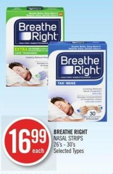 BREATHE RIGHT NASAL STRIPS 26's - 30's