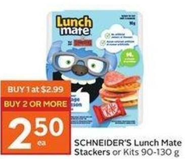 Schneider's Lunch Mate Stackers or Kits 90-130 g