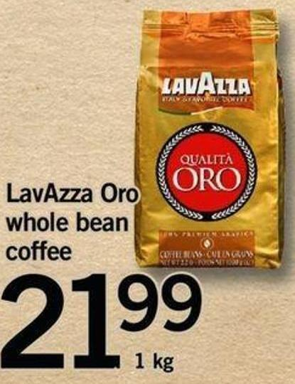 Lavazza Oro Whole Bean Coffee - 1 Kg