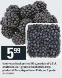 Family Size Blackberries 340 G Or Blueberries 510 G