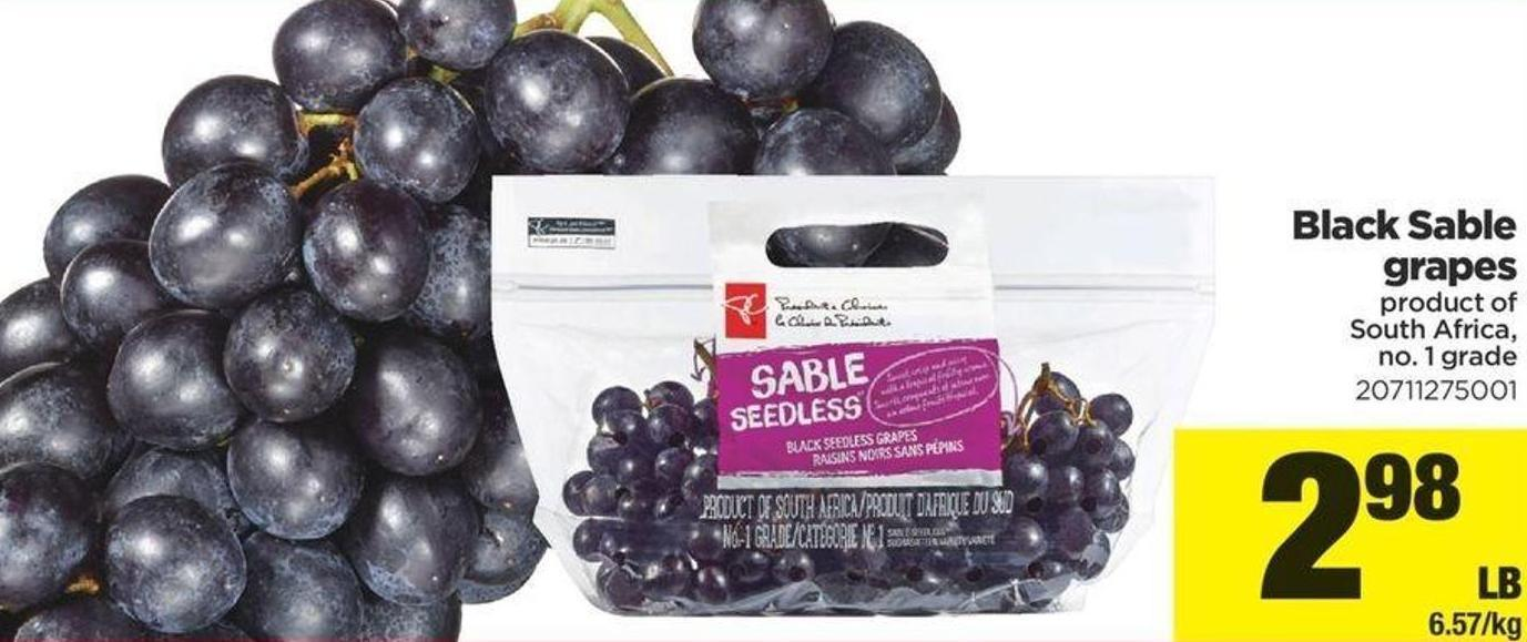 Black Sable Grapes