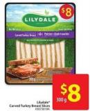 Lilydale Carved Turkey Breast Slices 300 g