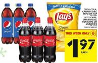 Coca-cola - Canada Dry - Pepsi Or 7up Or Lay's Chips - Smartfood - Sun Chips Or Munchies