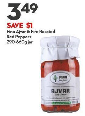 Fino Ajvar & Fire Roasted Red Peppers