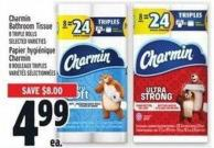 Charmin Bathroom Tissue 8 Triple Rolls