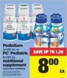 Pediasure - 4x235 Ml Or PC Pediatric - 6x235 Ml Nutritional Supplement Selected Va