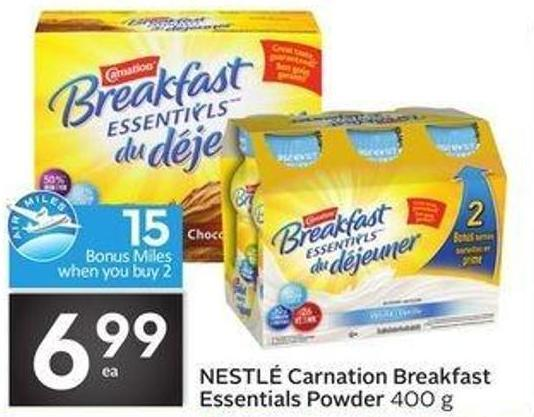 Nestlé Carnation Breakfast Essentials Powder