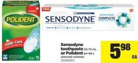 Sensodyne Toothpaste 65-75 Ml Or Polident 84-96's