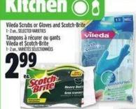 Vileda Scrubs Or Gloves And Scotch-brite