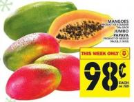 Mangoes Or Jumbo Papaya