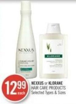 Nexxus or Klorane Hair Care Products