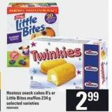 Hostess Snack Cakes - 8's Or Little Bites Muffins - 234 G