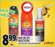 Off! Raid Or Off Insecticide