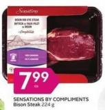 Sensations By Compliments Bison Steak