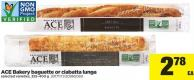Ace Bakery Baguette Or Ciabatta Lunga - 325-400 g