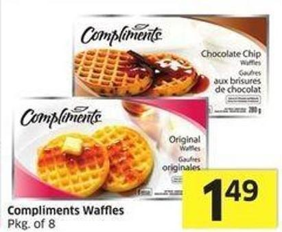 Compliments Waffles Pkg of 8
