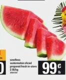 Seedless Watermelon Sliced