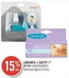 Lansinoh or Safety 1st Infant Accessories