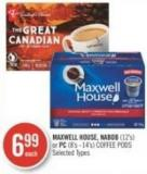 Maxwell House - Nabob (12's) or PC (8's - 14's) Coffee PODS