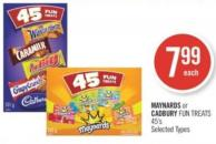Maynards or Cadbury Fun Treats 45's