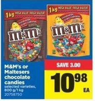 M&m's Or Maltesers Chocolate Candies - 800 G/1 Kg