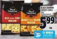 Black Diamond Cheese Cubes 280 g