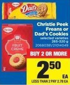 Christie Peek Freans Or Dad's Cookies - 265-320 g