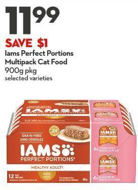 Iams Perfect Portions Multipack Cat Food 900g Pkg