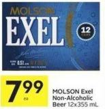 Molson Exel Non-alcoholic Beer 12x355 mL