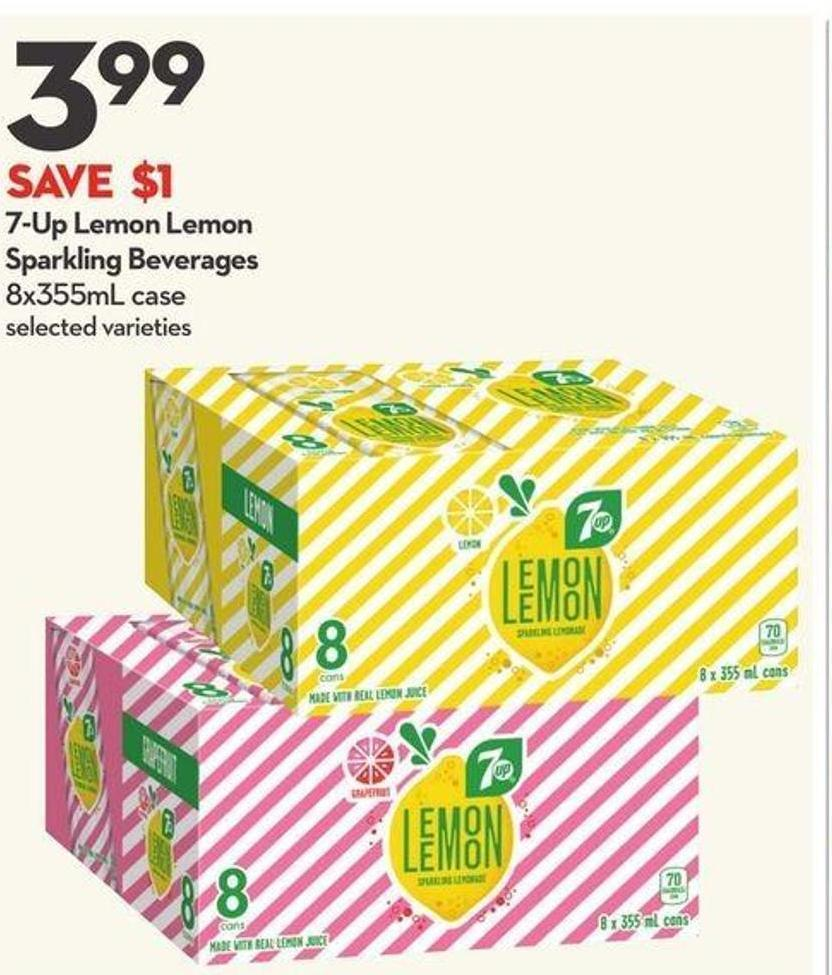 7-up Lemon Lemon Sparkling Beverages
