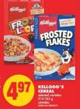 Kellogg's Cereal - 515-765 g