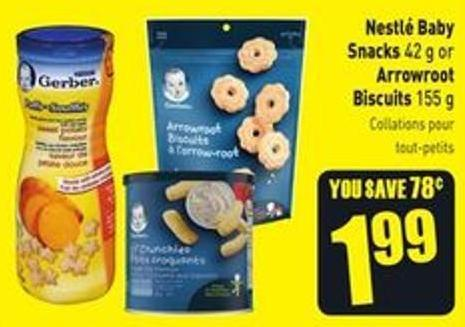 Nestlé Baby Snacks 42 g or Arrowroot Biscuits 155 g