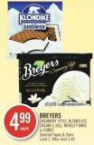 Breyers Creamery Style - Blends Ice Cream (1.66l) - Novelty Bars or Cones