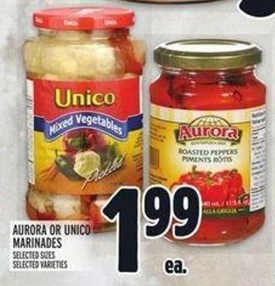Aurora or Unico Marinades