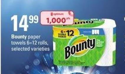 Bounty Paper Towels - 6=12 Rolls