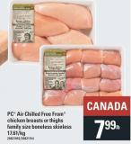 PC Air Chilled Free From Chicken Breasts Or Thighs Family Size Boneless Skinless