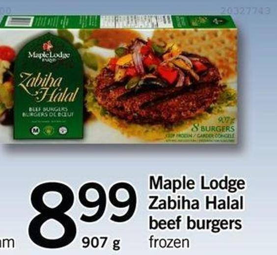 Maple Lodge Zabiha Halal Beef Burgers - 907 G