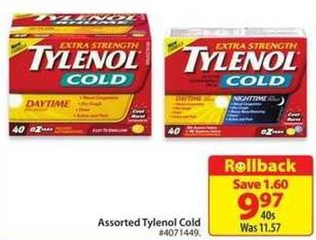 Tylenol Assorted Tylenol Cold