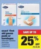 Exact First Aid Gauze Pads Or Bandages
