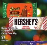 Reese Tree - 31 G Or Hershey's Candy Cane - 43 G