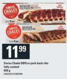 Swiss Chalet Bbq Or Pork Back Ribs Fully Cooked - 600 g