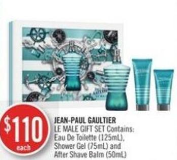 Jean-paul Gaultier  Le Male Gift Set Contains: Shower Gel (75ml) and After Shave Balm (50ml)