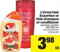 L'oréal Hair Expertise Or Kids Shampoo Or Conditioner - 285/365 mL