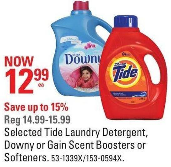 Selected Tide Laundry Detergent - Downy or Gain Scent Boosters or Softeners
