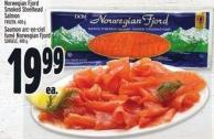 Norwegian Fjord Smoked Steelhead Salmon Frozen 400 g