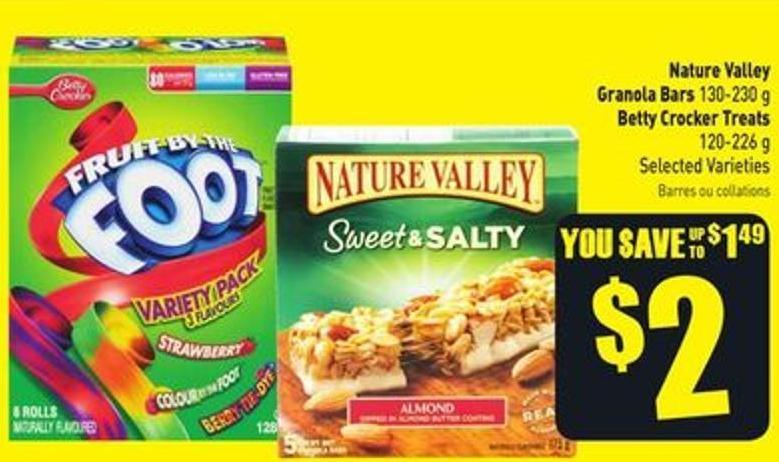 Nature Valley Granola Bars 130-230 g Betty Crocker Treats 120-226 g Selected Varieties