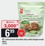 PC Plant-based Chocolate Chip Cookie Dough Rounds - 500 g