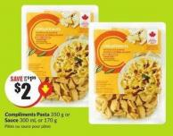 Compliments Pasta 350 g or Sauce 300 mL or 170 g