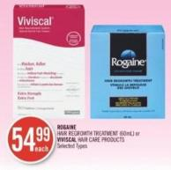 Rogaine Hair Regrowth Treatment (60ml) or Viviscal Hair Care Products
